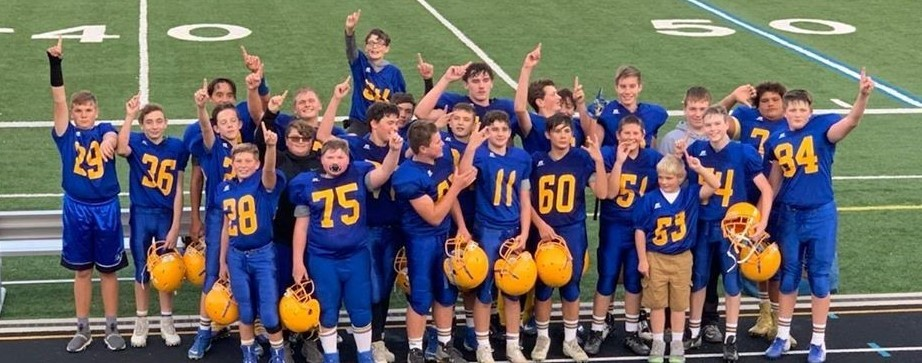 8th Grade Middle School Football Team Wins WBL Championship