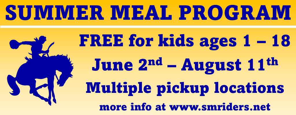 summer meal program; June 2 - August 11; free for ages 1-18
